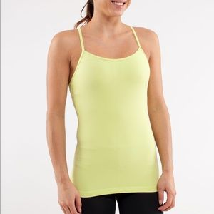 Lululemon Athletica Power Y yellow top - Size 6